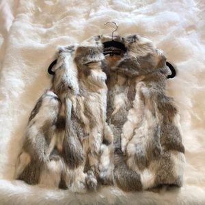 Adrienne Landau Rabbit Fur Vest